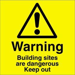 Building Site Warning